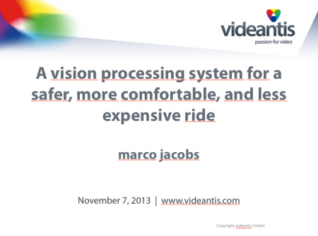 Presentation automotive vision processing system