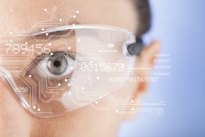 Wearables - futuristic smart glasses